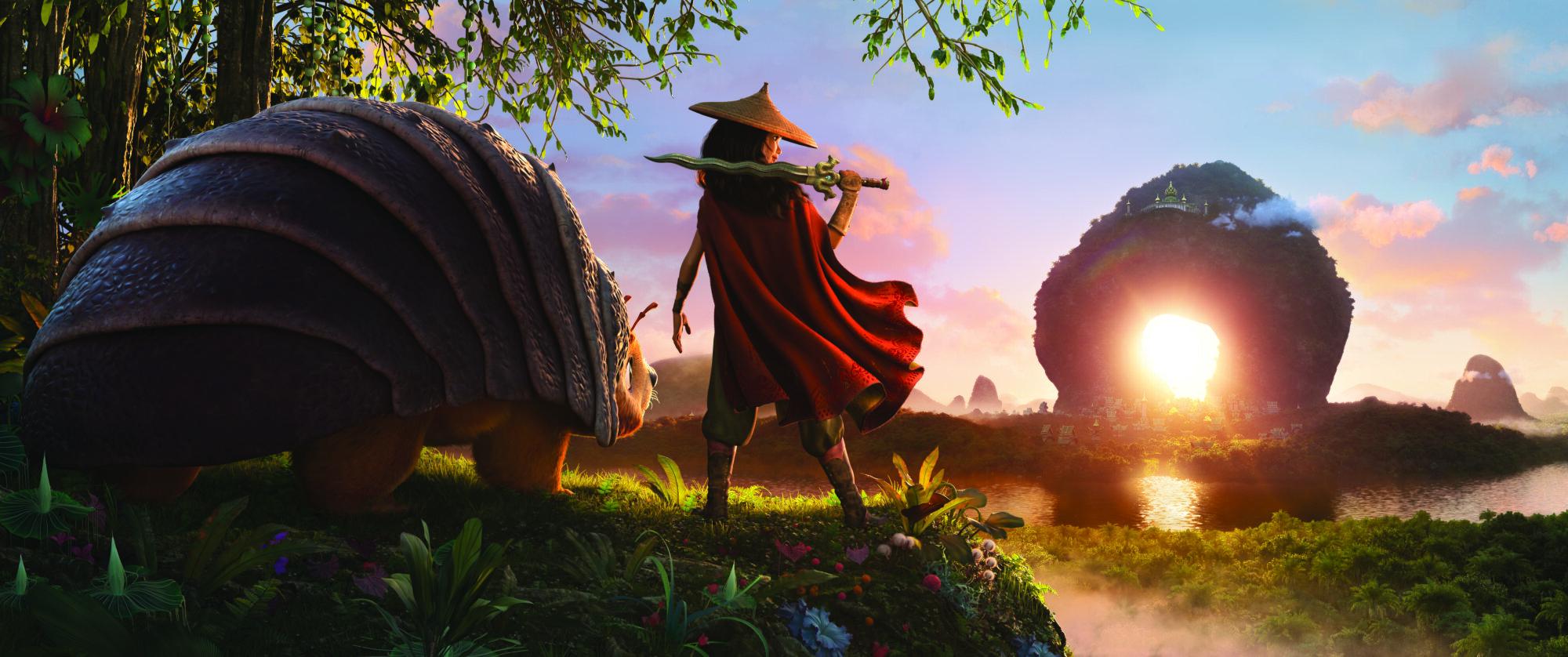 Tuk Tuk, Raya, and the Heart kingdom.