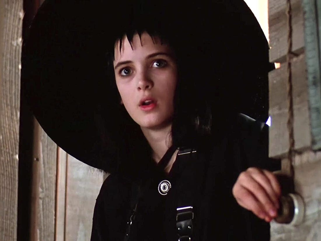 Young Winona in 'Beetlejuice'.