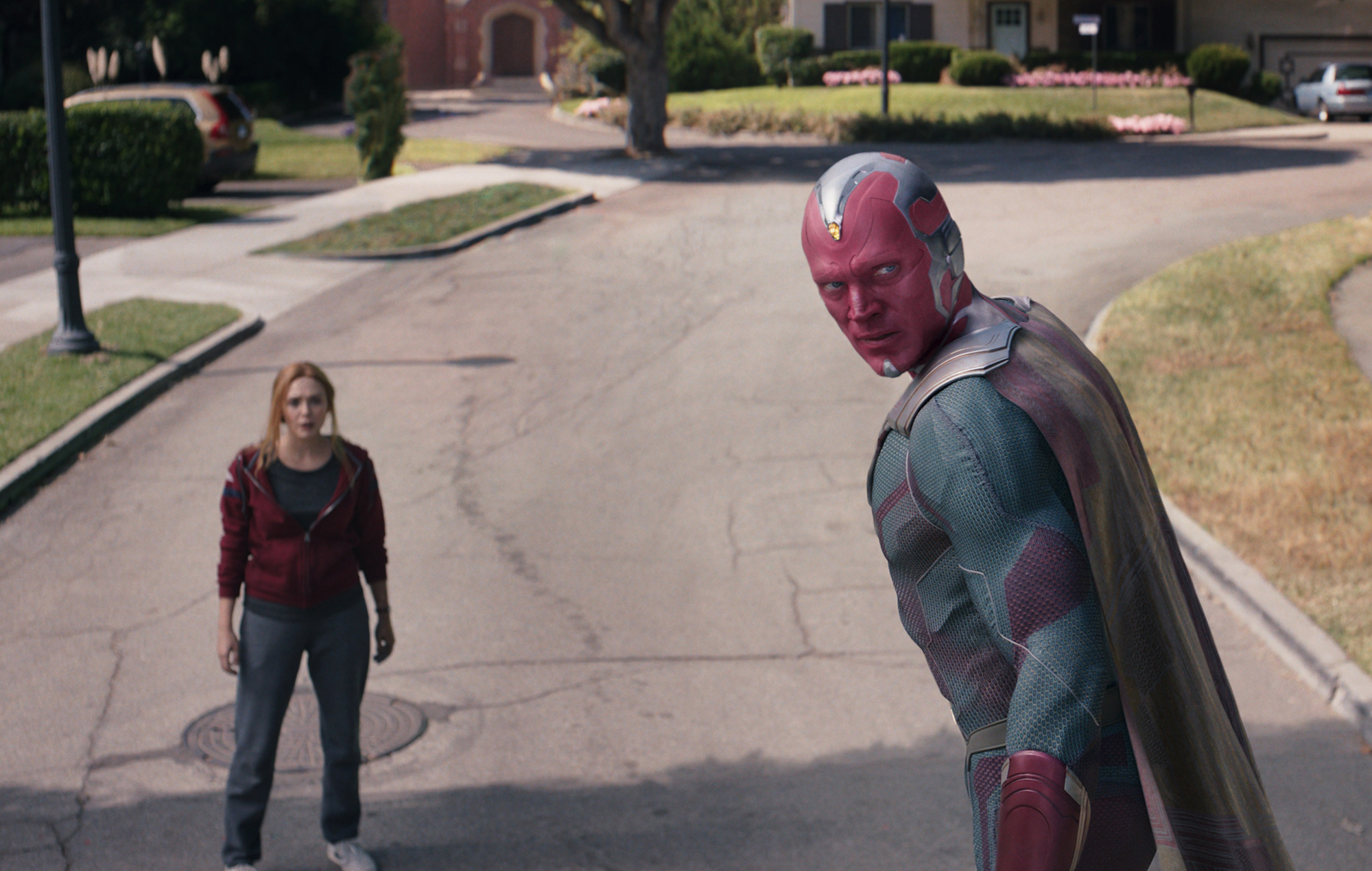 Vision died, remember? Suddenly, tadaa he's back.