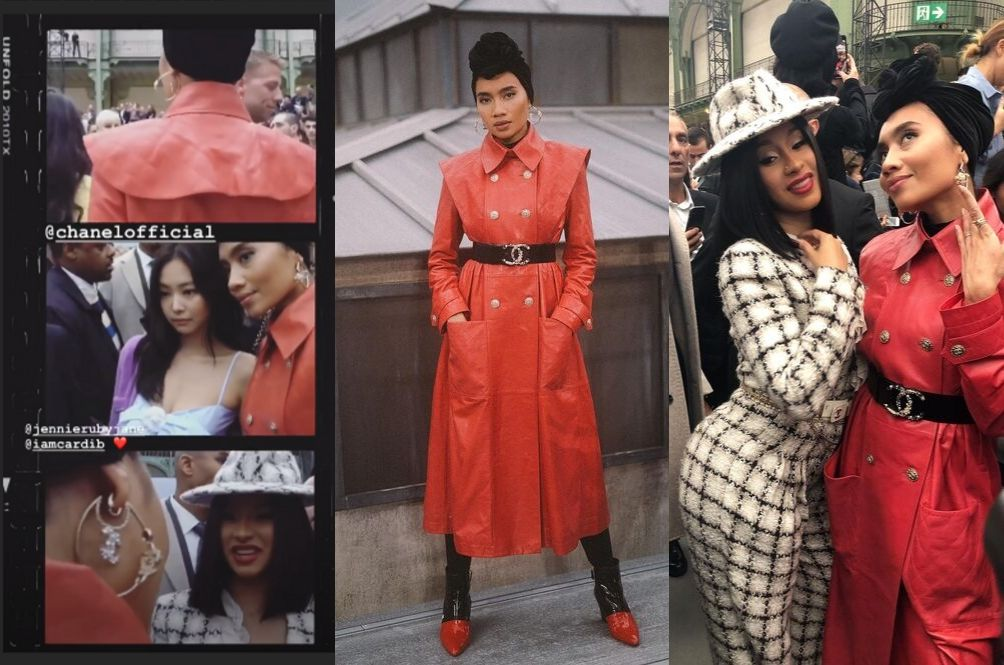 Yuna Meets Cardi B And Jennie Blackpink At Paris Fashion Week, Fans Asking For A Collaboration