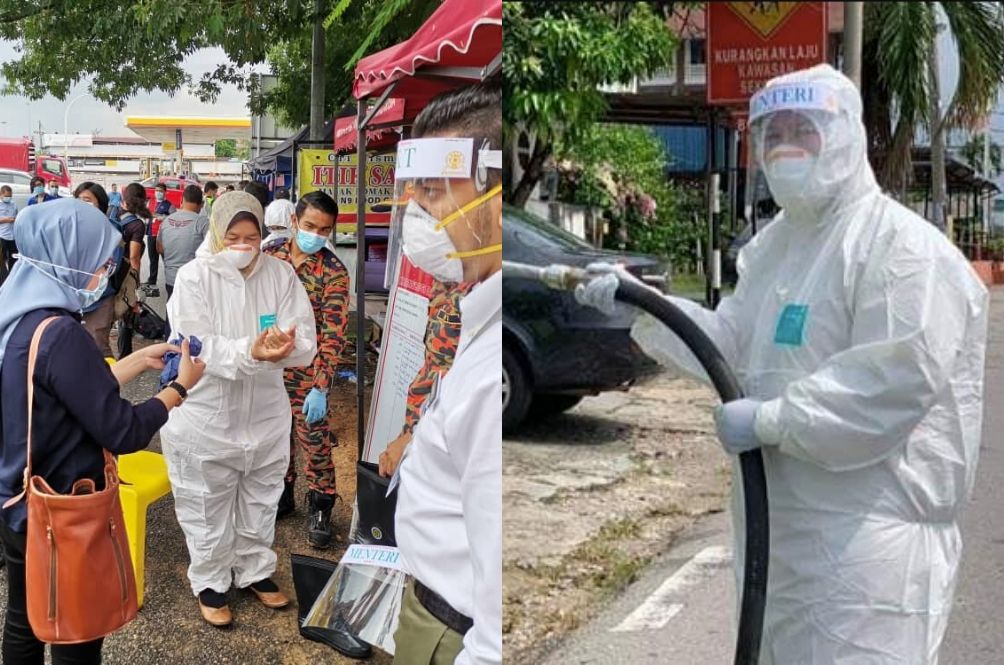 Minister Criticised By Malaysians And Politicians After Wearing Hazmat Suit For Photo Op