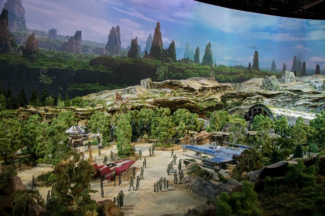 One of the entrances where the Resistance ships will be on display.