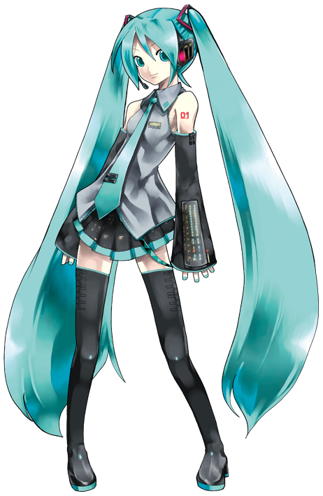Miku is 158cm tall and weighs 42kg.