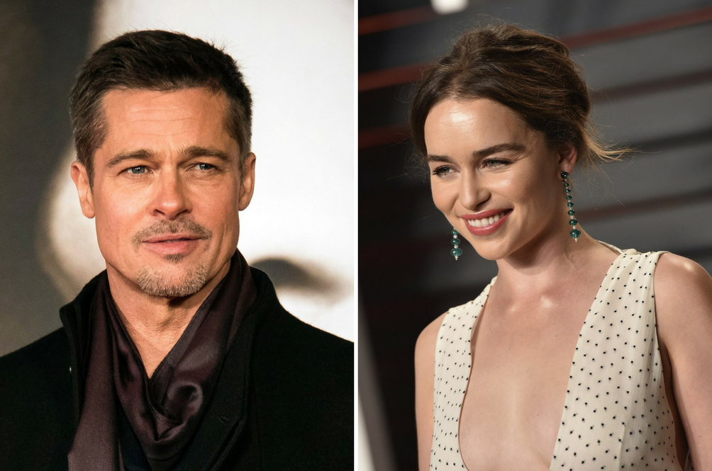 Brad Pitt Bid A Lot Of Money Just To Watch 'Game Of Thrones' With Emilia Clarke