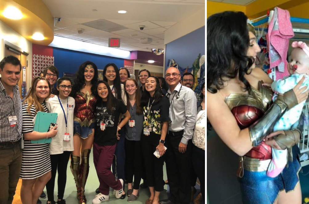 Gal Gadot Visited A Children's Hospital Dressed As Wonder Woman