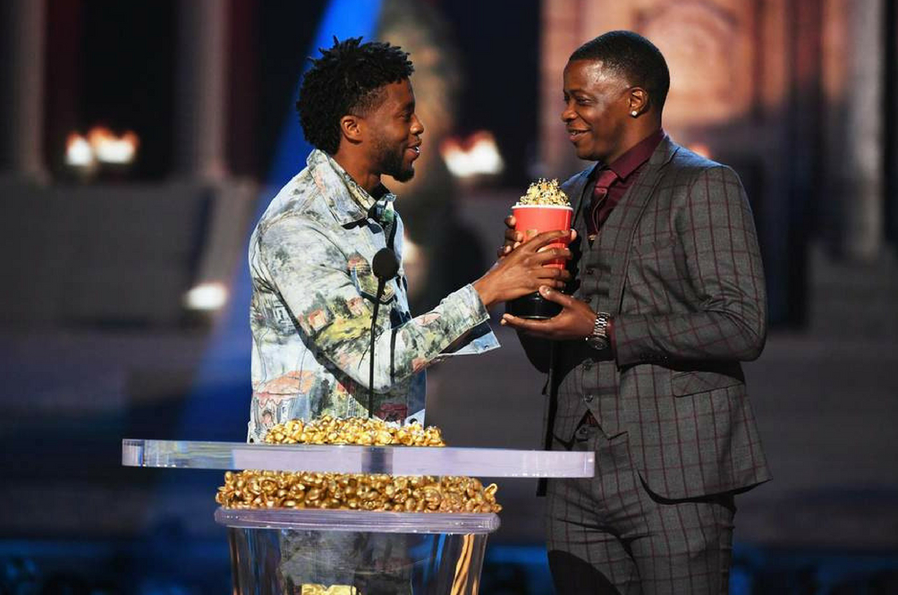 Chadwick Boseman Gave Away His MTV 'Best Hero' Award To A Real-Life Hero