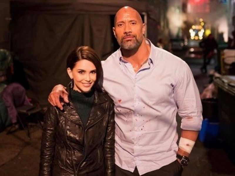 Even Dwayne Johnson couldn't help but gush over the beautiful actress.