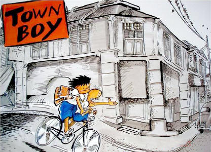 Lat released a sequel, 'Town Boy' in 1981 following his teenage years in the city.