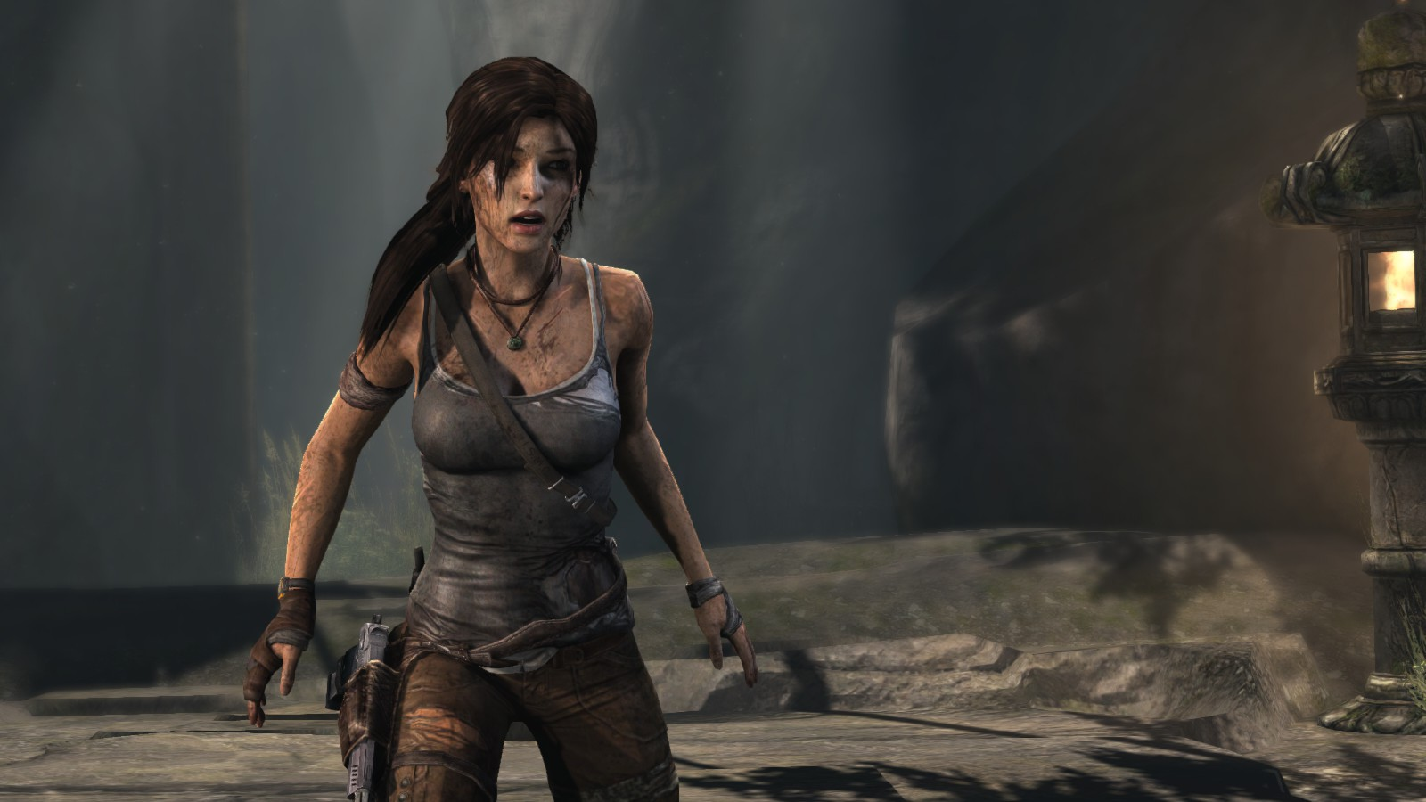 This is the new Lara Croft in the 2013 video game.