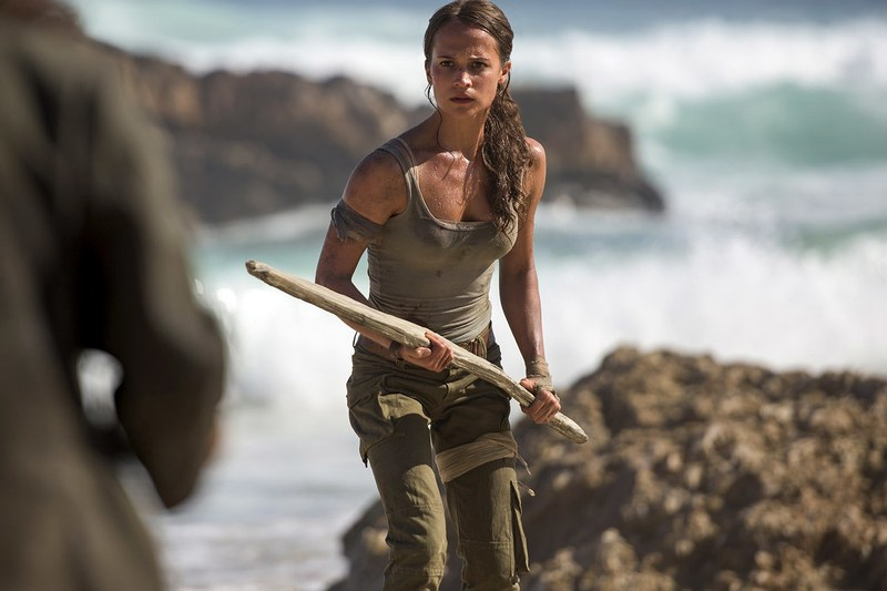 Alicia Vikander plays the young Lara Croft who goes on an adventure to find out more about her father's disappearance.