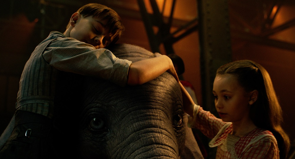 Joe (Finley Hobbins) and Milly (Nico Parker) became Dumbo's first real friends.