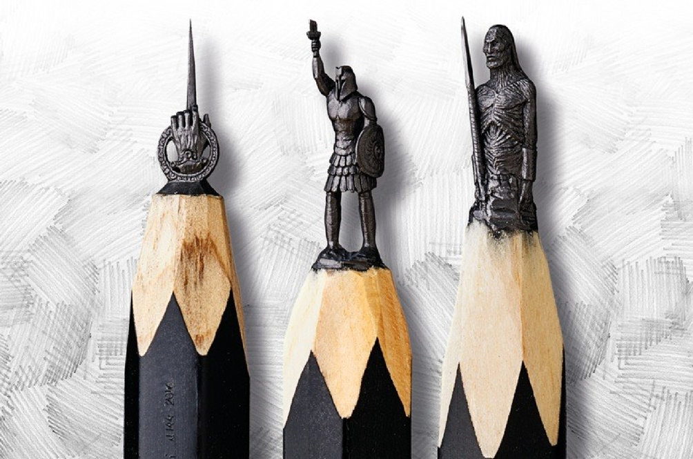 This Russian Artist Carved 16 'Game Of Thrones' Themed Sculptures Onto Graphite Pencil Tips!