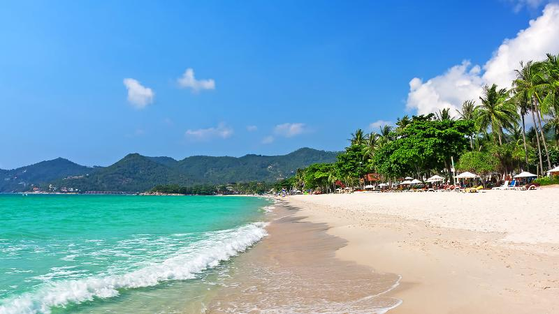 Chaweng Beach is Koh Samui's busiest beach where you can find the best surfing and shopping spots.
