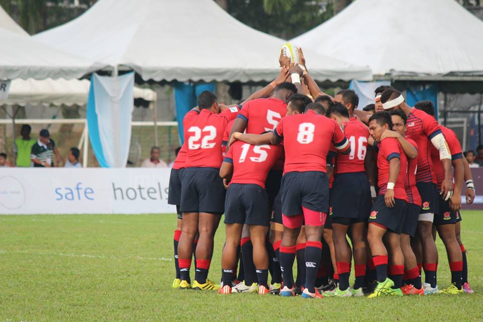 The moment when Malaysia scored a 42-17 win over Sri Lanka at the Asia Rugby Championship in 2016.