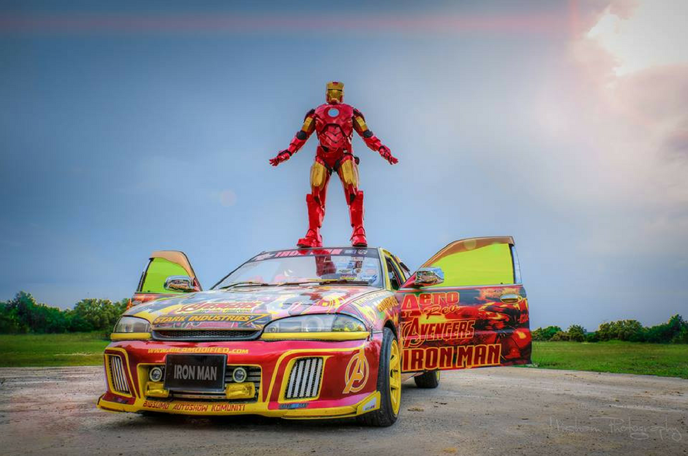Iron Man Has Landed In Malaysia And He Drives A Proton Wira