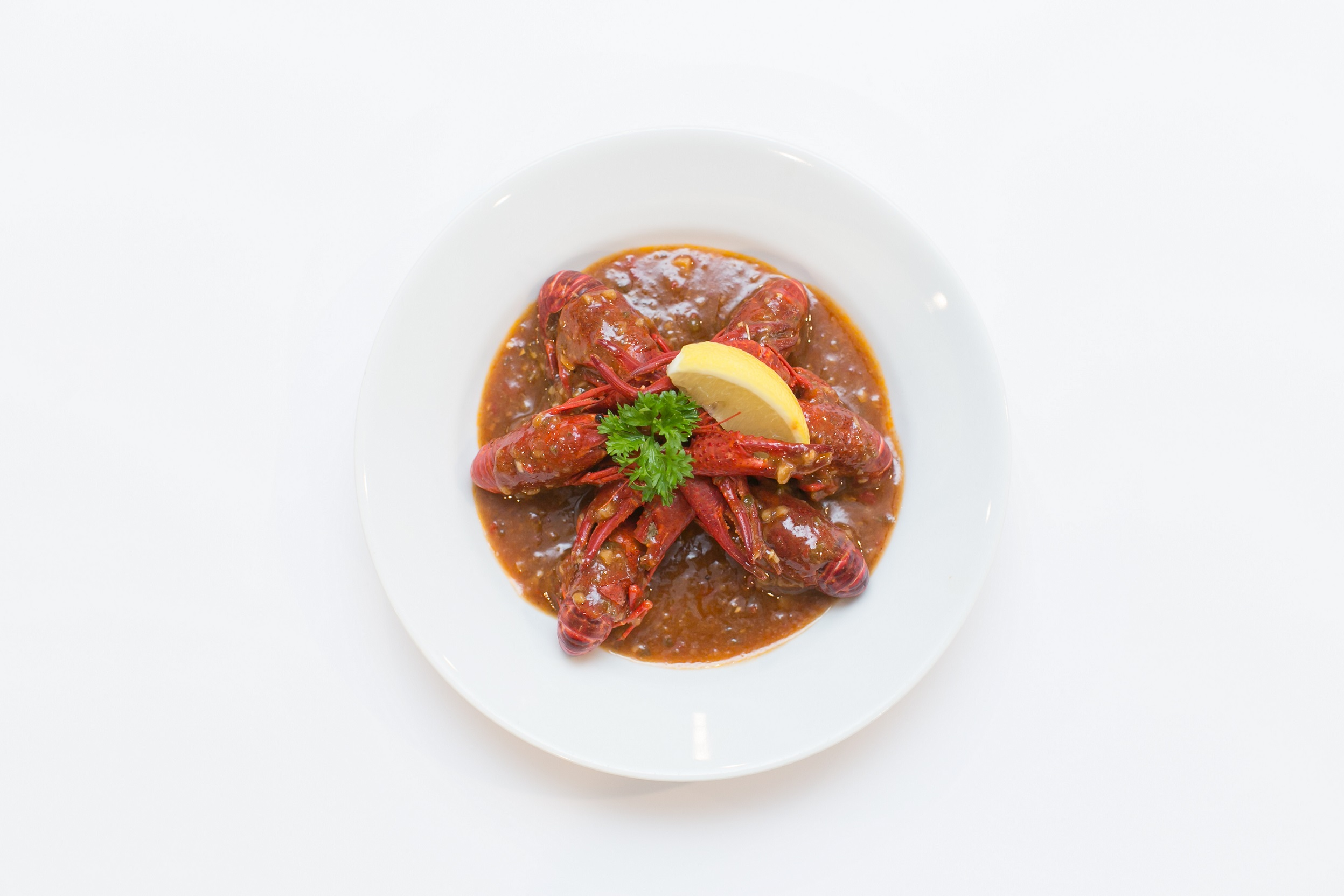 Crayfish with Spicy Tomato Sauce for RM29.90 per plate.