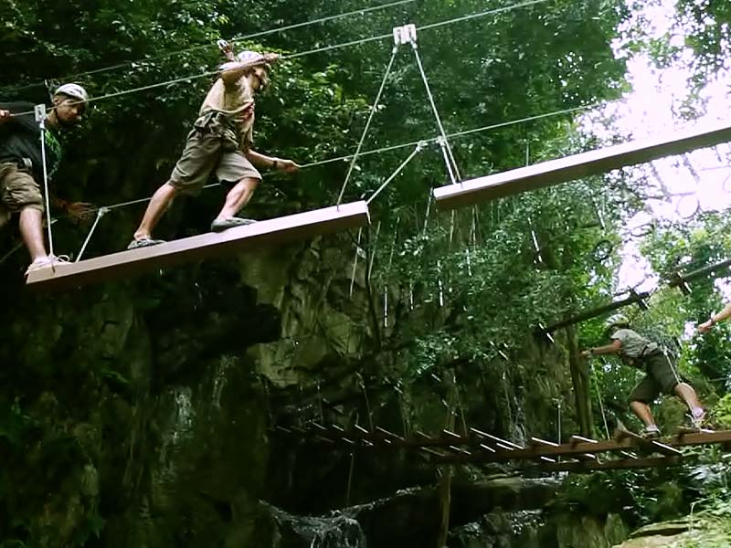 Check out the High Rope Course challenges, all 13 of them!