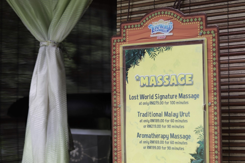 What's a relaxing getaway without some self-pampering massage?