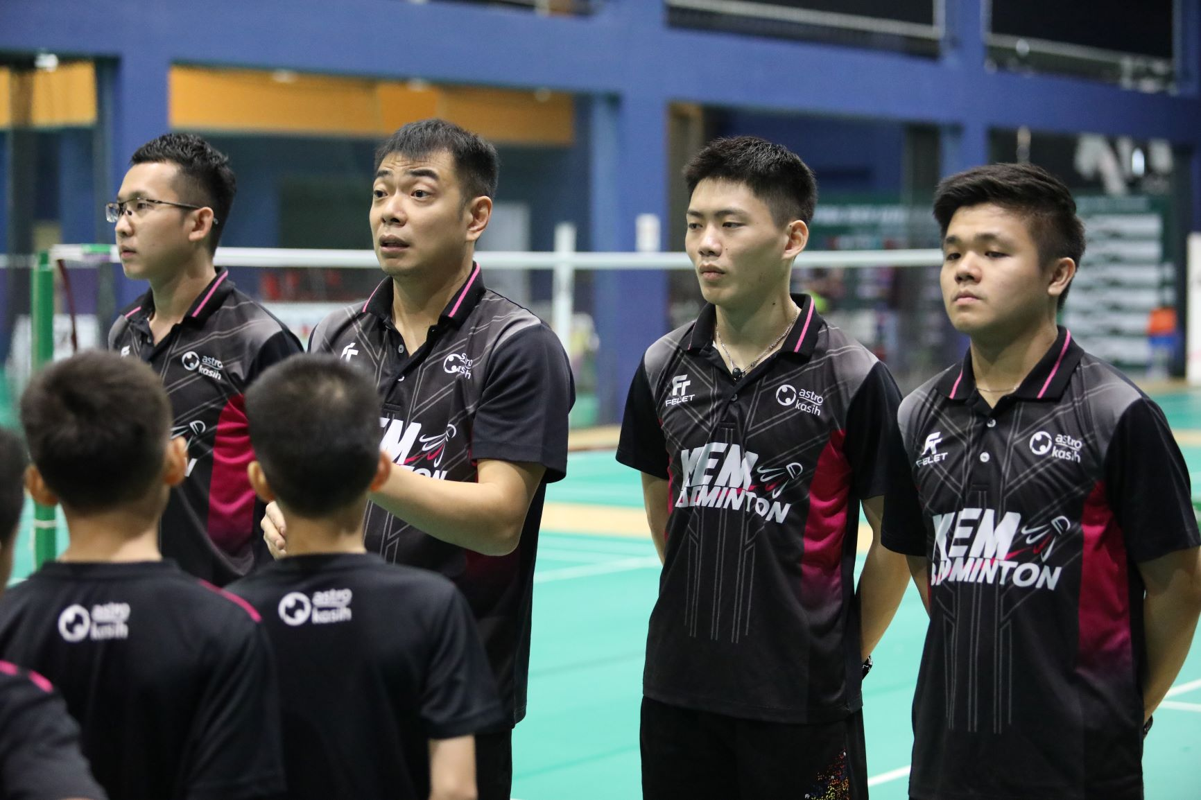 Professional coaches from the Badminton Association of Malaysia.