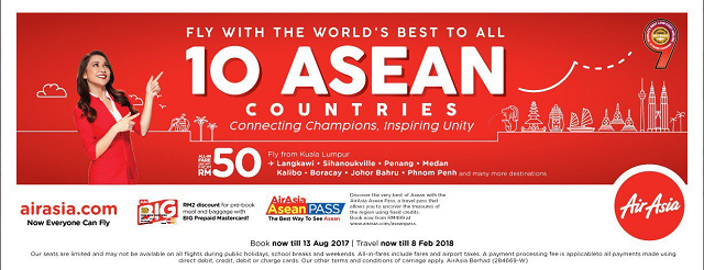 AirAsia is the only airline that flies directly to all ten ASEAN countries.