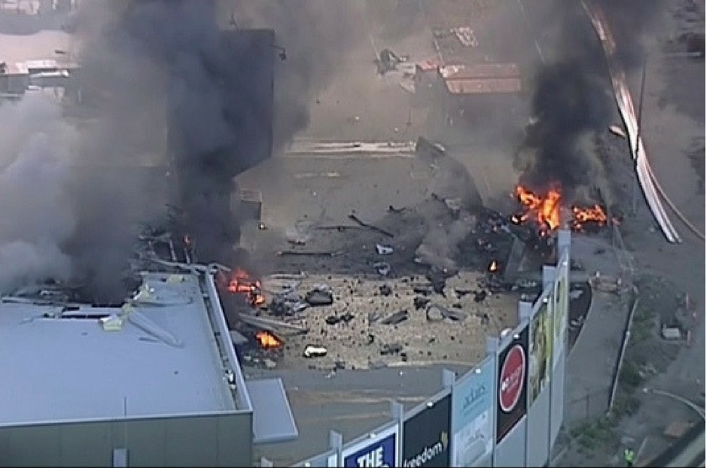 Melbourne Plane Crashes Into Mall, Killing All Five Onboard