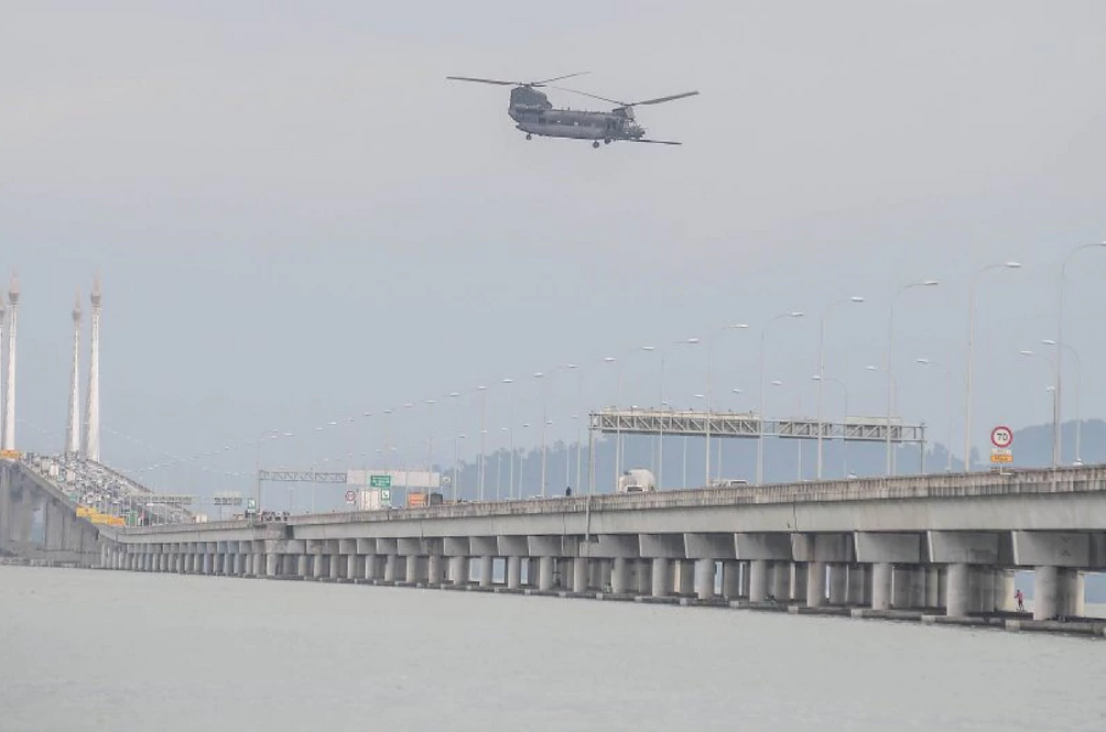 What Was A Helicopter Built In The 1950s Doing Flying Above The Penang Bridge?