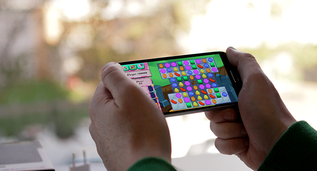 We bet you're secretly playing 'Candy Crush' late at night too.