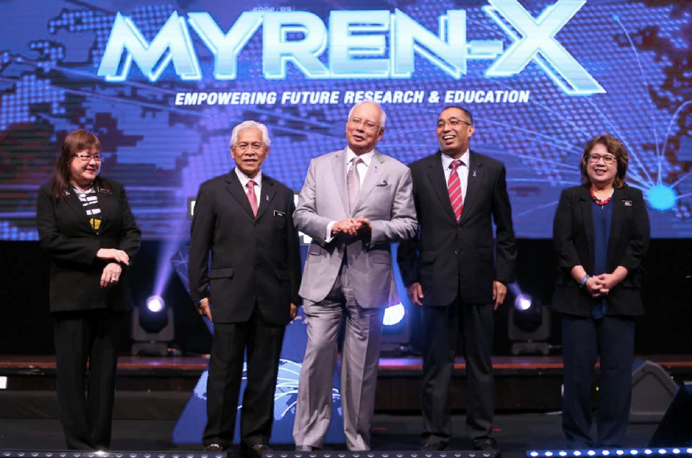 PM Najib Razak at the launching of MYREN