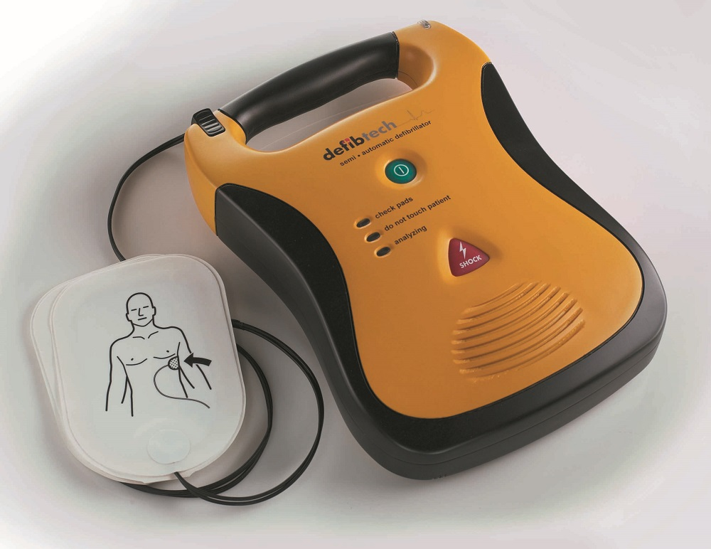 This is what an automated external defibrillator looks like.