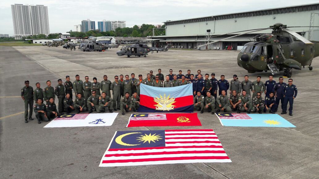 The RMAF helicopter crew from a previous National Day celebration.
