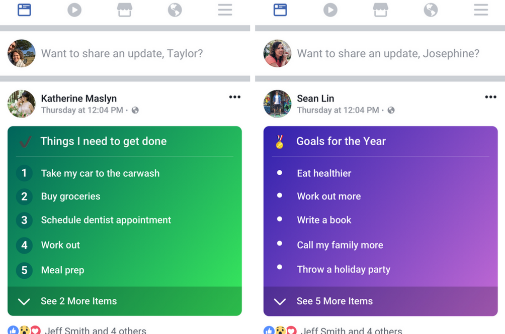 You Can Soon Share Lists As Your Facebook Status Update
