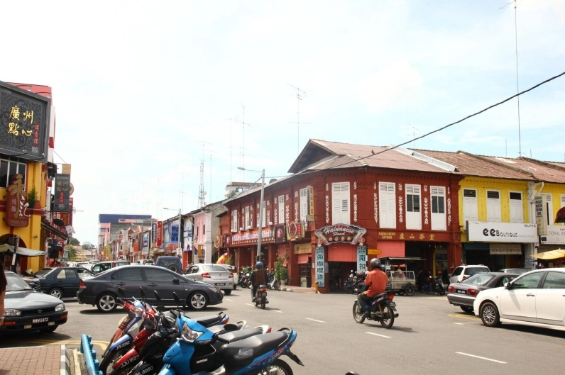 Pre-war buildings line the streets of Muar, Johor till today.