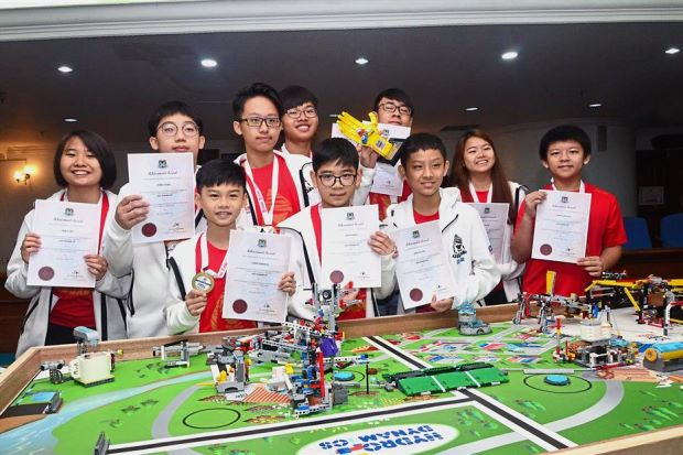 The team was in George Town, Penang to demonstrate how the function of their robots.