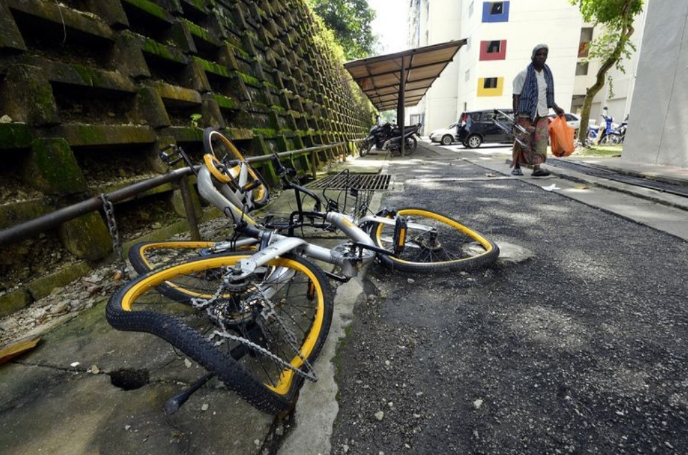 Someone Bought All The Damaged oBikes Left Piling Up At DBKL