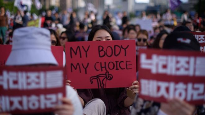 South Korea to end abortion ban by 2020.