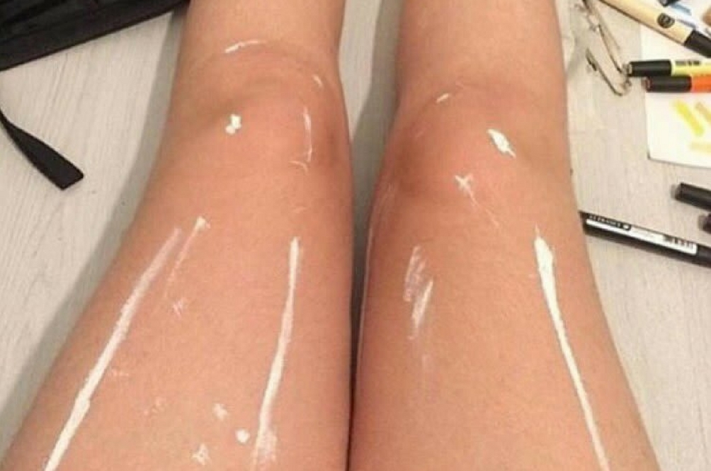 Do You See A Pair of Shiny Legs Or Legs With White Paint?