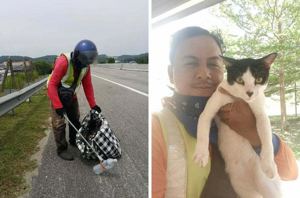 Malaysian Man Takes On Additional Job To Feed Stray Cats