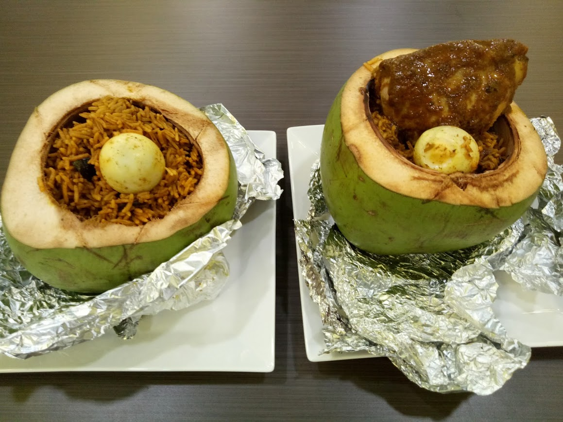 This biryani is coconuts!