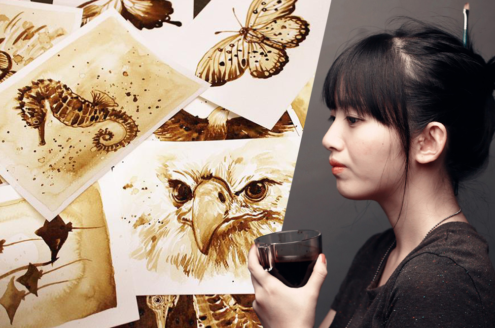 Meet The Malaysian Girl Who Paints The World - With Coffee!