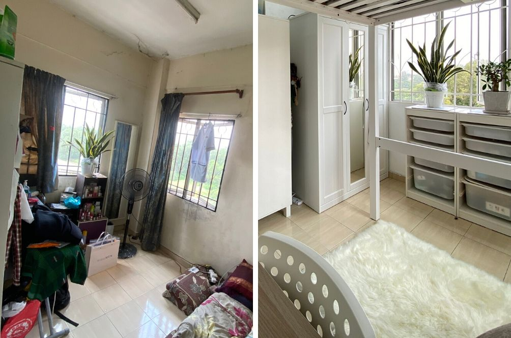 Malaysian Man Uses The MCO Period To Redecorate Old Bedroom And What A Change!