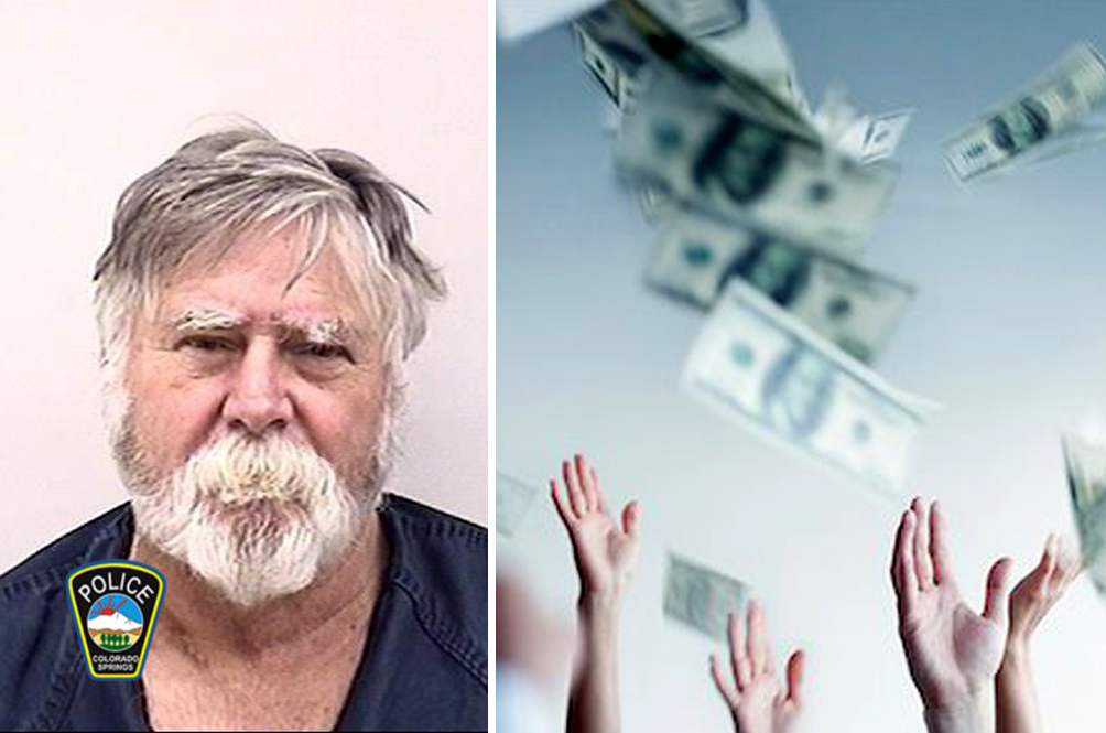 Man Robs Bank, Throws Money In The Air And Yells 'Merry Christmas'!