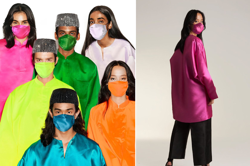 Local Designer Creates Baju Melayu Collection That Comes With Matching Face Masks