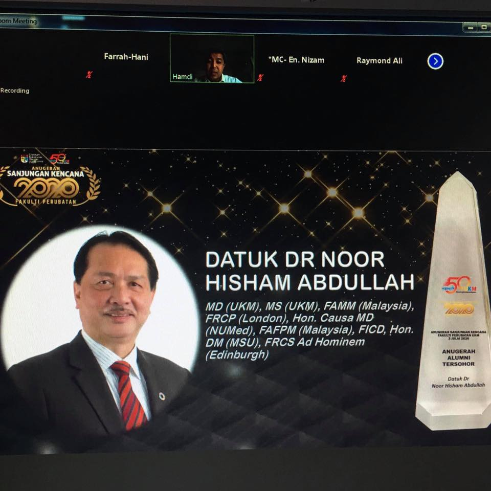Who else deserves this but Dr Noor Hisham, right?