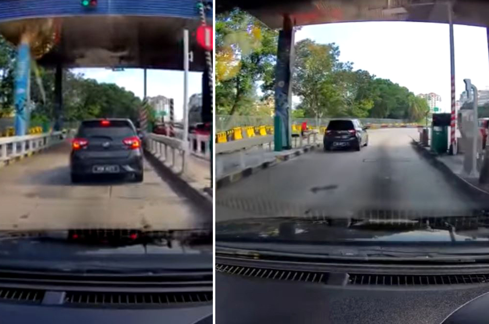 Perodua Myvi Caught On Camera Squeezing Past Toll Boom Gate To Avoid Paying