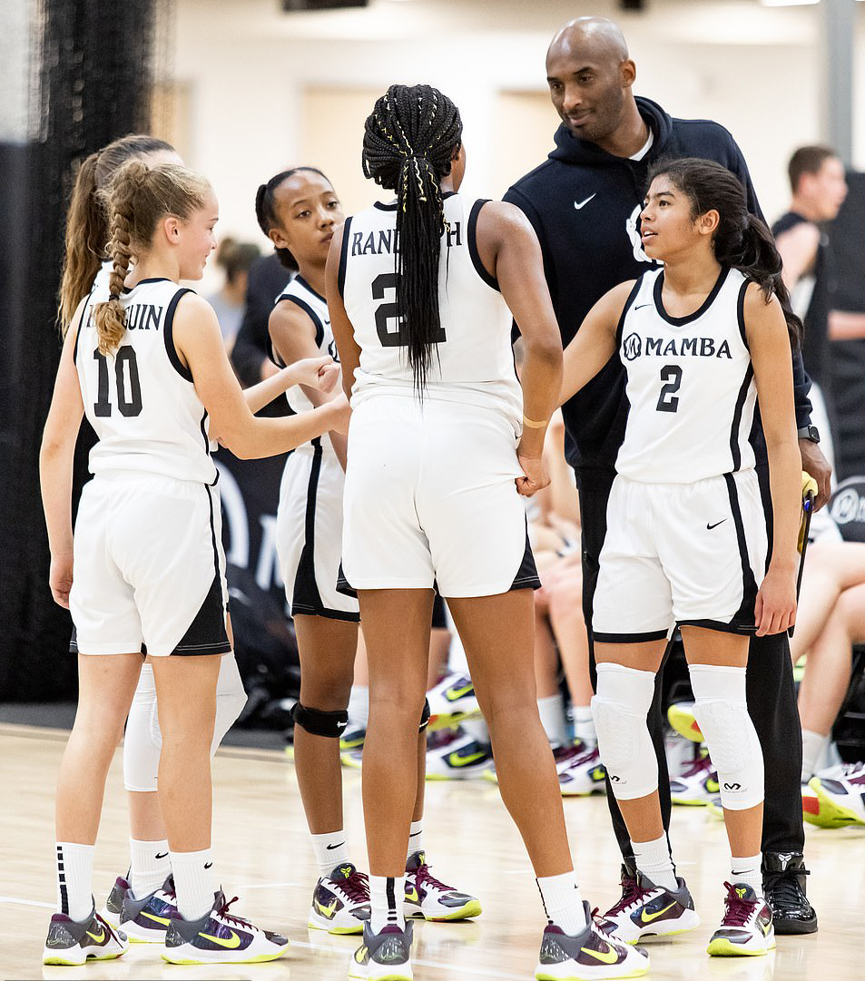 Kobe was at the Academy to coach Gianna's team.