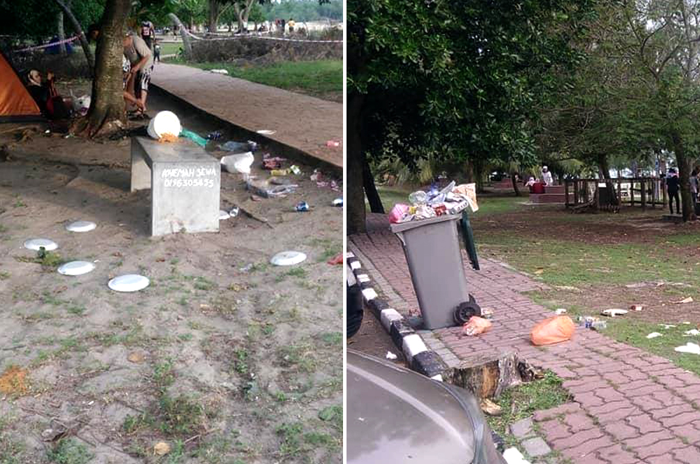 Dirty Malaysians: Visitors Thronging Port Dickson Beach Leave Behind Trails Of Rubbish
