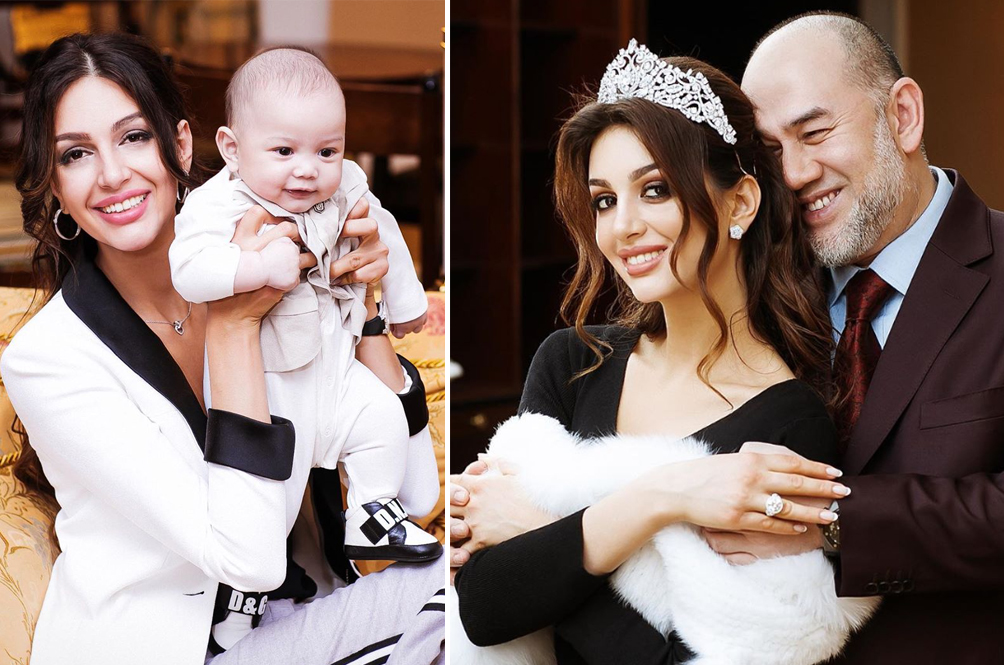 Rihana Oksana, Ex-Wife Of Sultan Muhammad V, Reveals Photos Of Her Adorable Son
