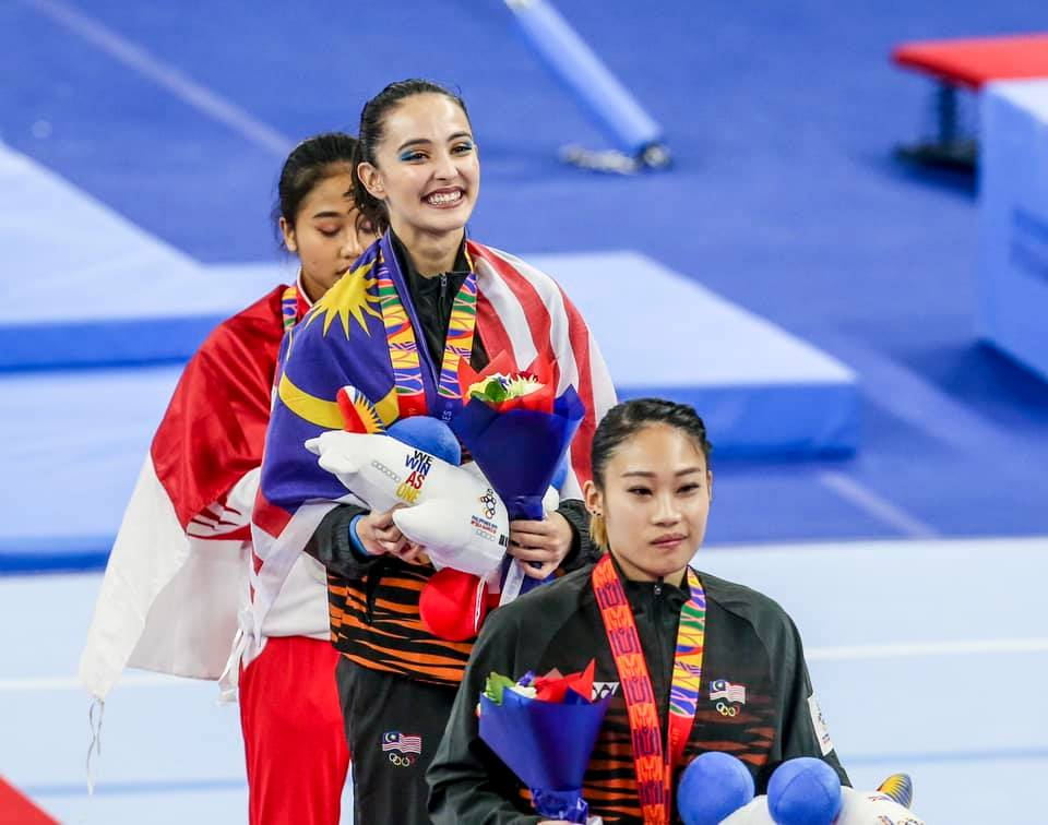 Gymnastic darling brings home the gold.