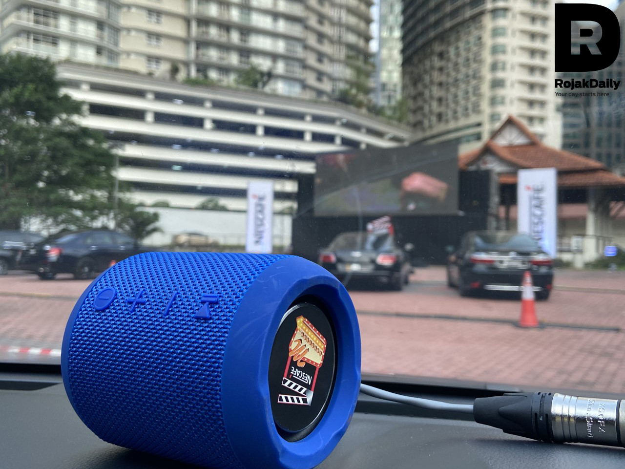 Each car gets its own speaker.
