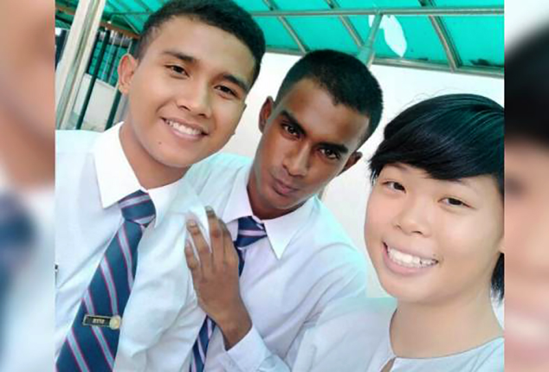 From left: Muhammad Aniq Hilman Haslimi, Mateshan Varma Subramaniam and Grace Sian Ern Hui.